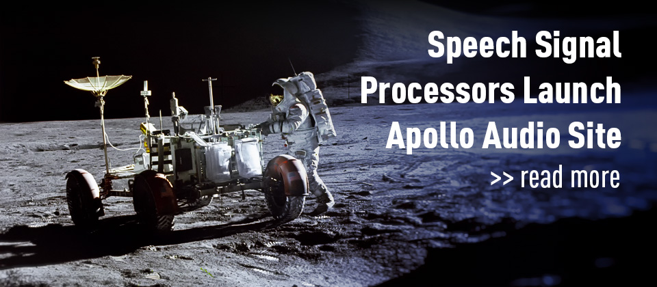 Speech Signal Processors Launch Apollo Audio Site - Read More