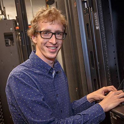 William Vandenberghe at a computer